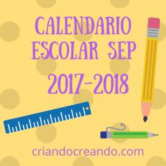 Calendario escolar SEP 2017-2018